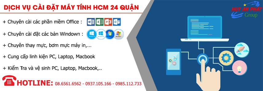 Dịch vụ Cài đặt Máy tính Tại nhà HCM 24 Quận Giá rẻ