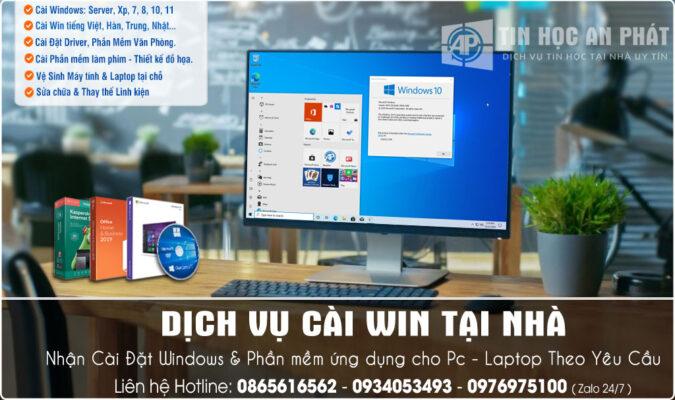 Dịch vụ cài Win tận nơi Quận Tân Phú của Huy An Phát